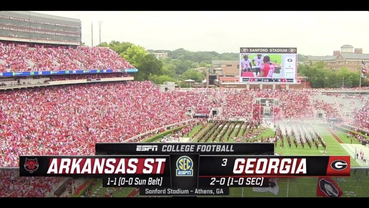 2019 Arkansas State at #3 Georgia