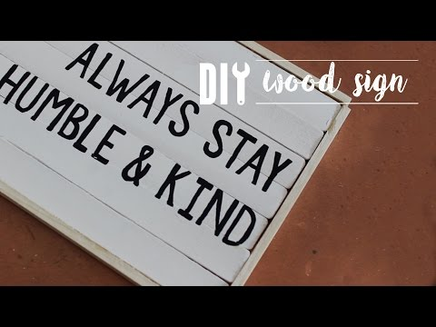 DIY Wood Sign Out of Paint Sticks