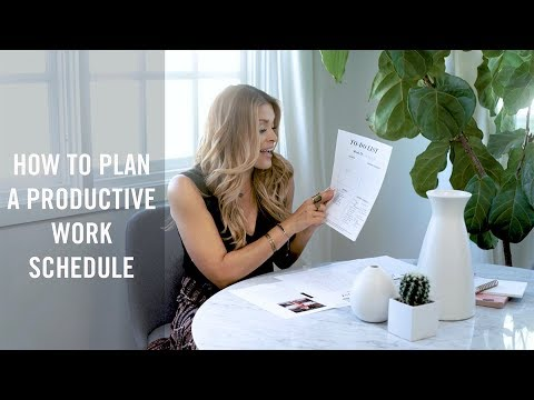 How to Plan a Productive Work Schedule