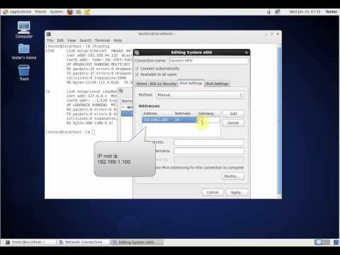 Linux GUI ip configure (using Gnome 2 on CentOS 6.5)