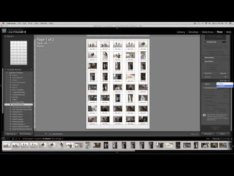 How to Make Contact Sheets in Lightroom