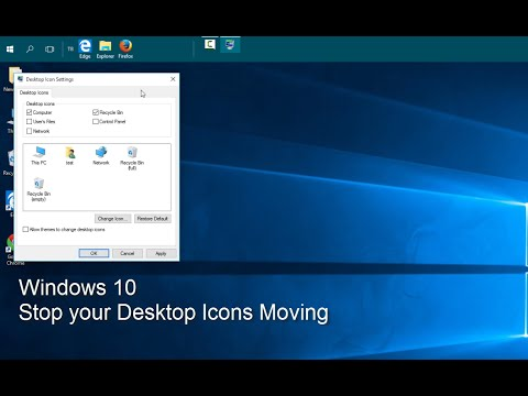 Windows  - Stop Desktop Icons Moving
