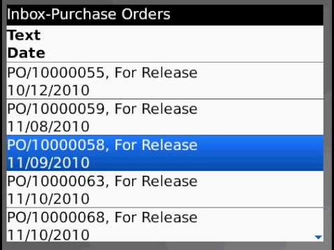 SAP Mobile Application - Purchase Order Workflow