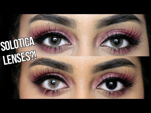 SOLOTICA COLOURED LENSES ON DARK EYES | REVIEW