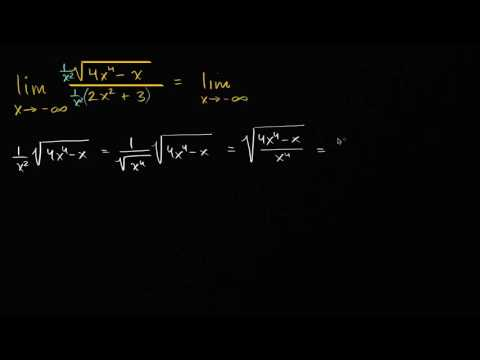 Limits at infinity of quotients with square roots (even power)   AP Calculus AB   Khan Academy
