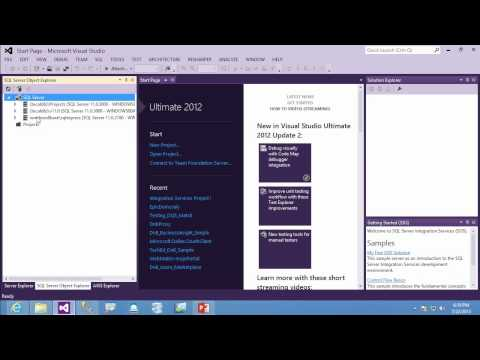 Using SQL Server Data Tools SSDT