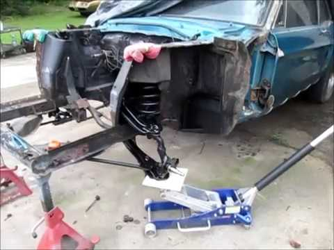 1968 Mustang front suspension install.