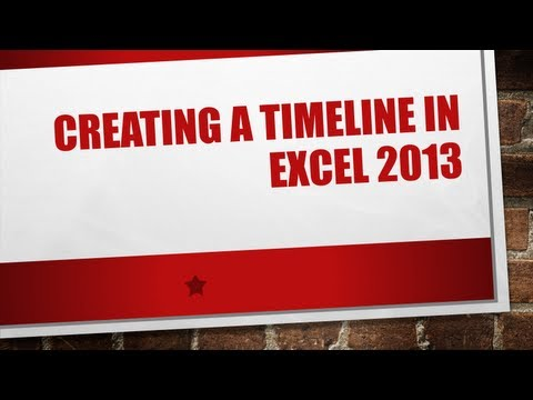 Creating a timeline in Excel 2013