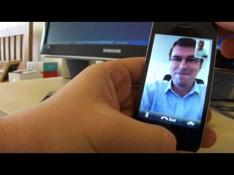 Face Time (WLAN video call) - iPhone 4 - demo