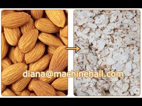 Almond Slice Cutting Machine Video