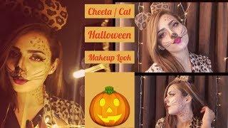 Cat / Cheetah / Leopard Halloween Makeup Look 🎃   Easy Tutorial