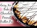 Easy No Bake Chocolate Peanut Butter Pie Recipe