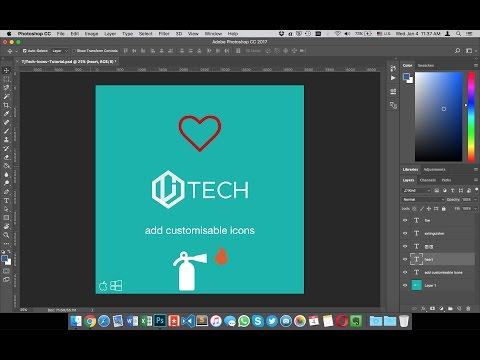 Quickly add customizable icons to design projects - Tutorial