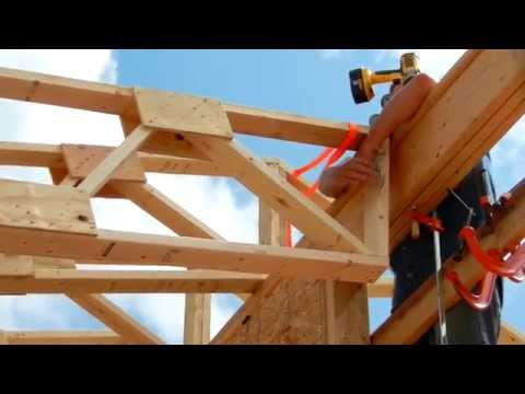 One Man Roof Truss Raising