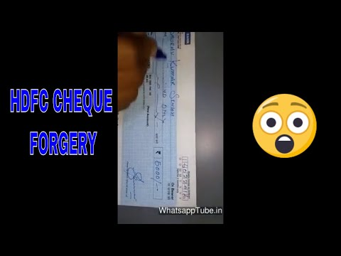 HDFC Bank Cheque forgery - watch this video and be aware