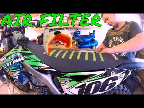 HOW TO CLEAN, OIL OR CHANGE DIRT BIKE AIR FILTER KX450F: Enduro Skills