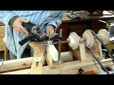 Grinding a machine taper with an angle grinder