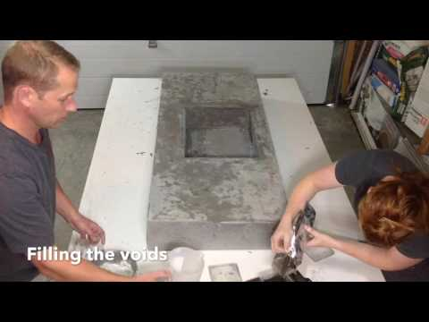Concrete Countertop With Integrated Sink