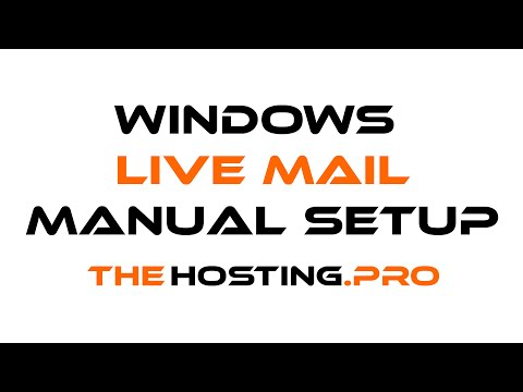 How to setup TheHosting.Pro e-mail account with Windows Live Mail through manual setup