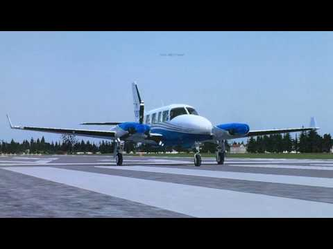 REVIEW PAYWARE Alabeo Piper Chieftane PA31 from Budel to Eindhoven (Home flight Sim) 2018