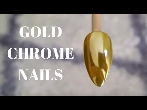 How to Gold Chrome Nails - Tutorial