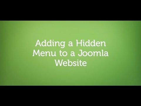 Adding a Hidden Menu to a Joomla Website