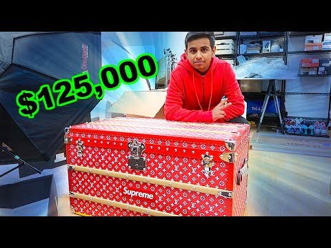 THE $125,000 SUPREME LOUIS VUITTON TRUNK !!!