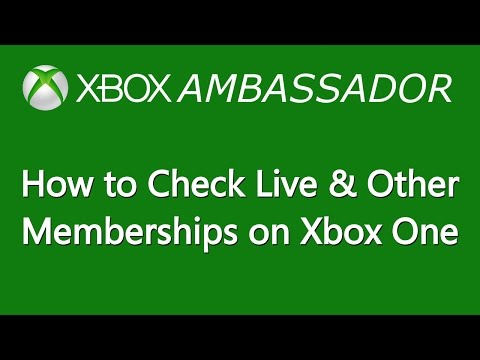 How to Check your Xbox Live & Other Memberships on Xbox One - Xbox Ambassador Series