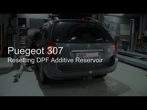 [G-scan] Peugeot 307 DPF Additive Replacement + Scan Tool Reset