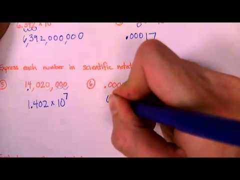 Scientific Notation (6-0-5)