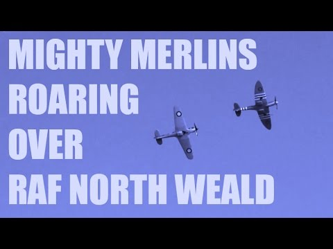 CRHnews   Mighty Merlins roaring over RAF North Weald Airfield