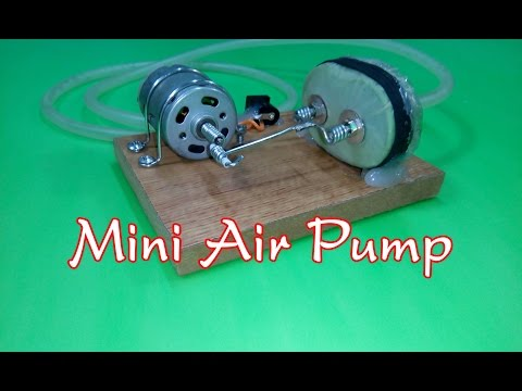 DIY - How to Make a Mini Air Pump v2 | Mini aquarium air pump