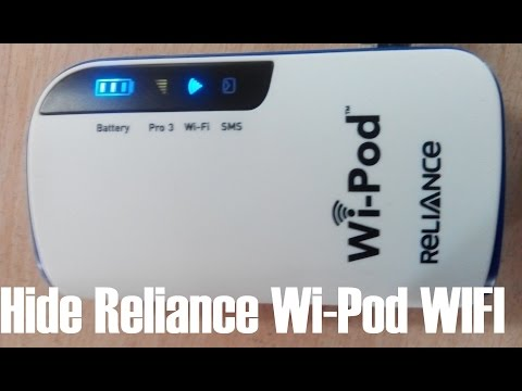 How to hide Reliance Wipod Wifi from others