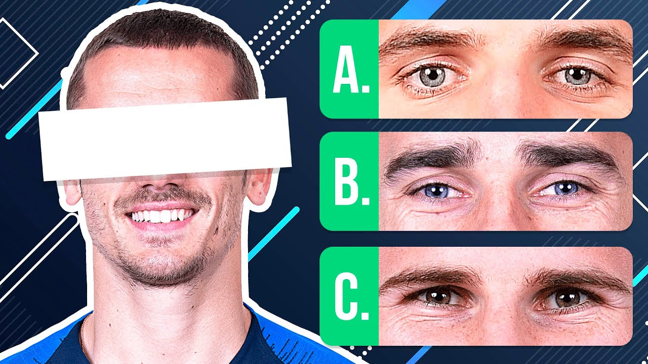 GUESS THE EYES OF THE PLAYERS - 15 FOOTBALL QUESTIONS | QUIZ FOOTBALL 2020