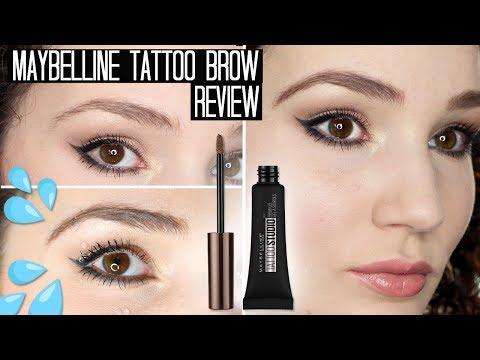 Maybelline Tattoo Studio Brow Gel Review & Waterproof Test