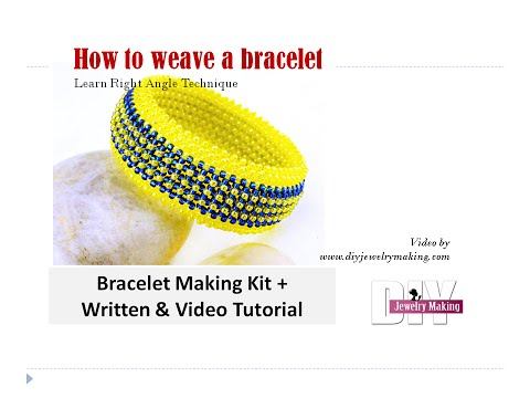 How to make multi layer seed beads bracelet with right angle weave beading technique