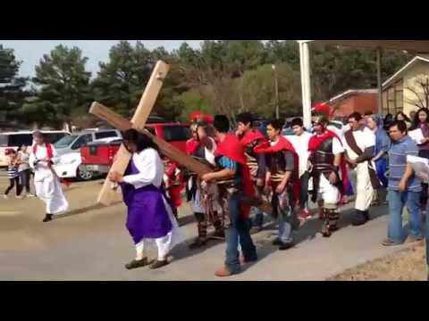Our Lady of Victories Catholic Church's Hispanic community Stations of the Cross