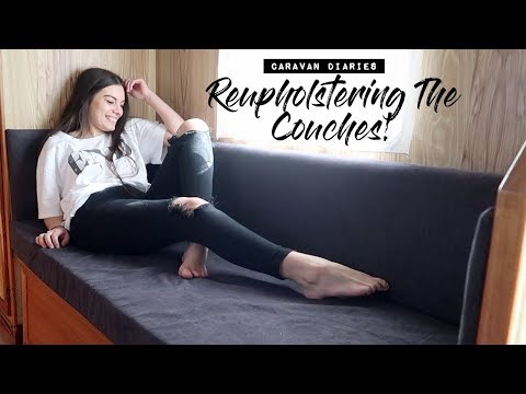 How I Reupholstered The Caravan Couches!