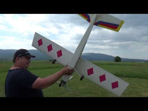 RC Trainer Happy Time 40 1.5m and PH 61 four stroke Maiden flight