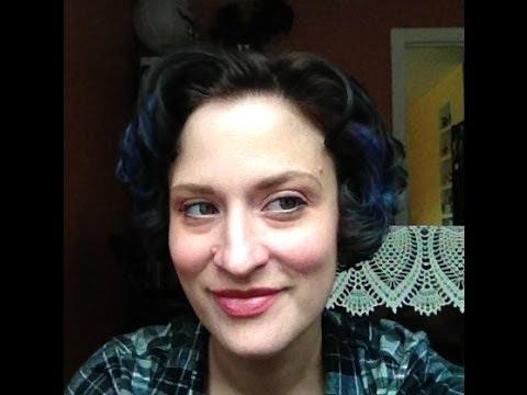 Velcro roller tutorial for short hair
