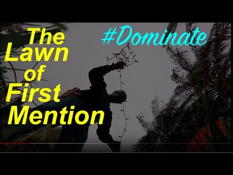 The Law of First Mention 1/1/2018