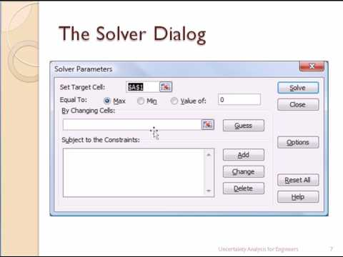 Using the Solver in Excel