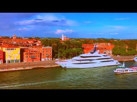 Cruise Ship Rhapsody of the Seas leaving Venice