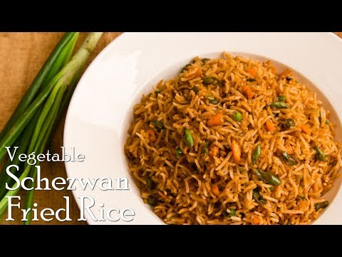 Veg. Schezwan Fried Rice | Indo-Chinese Fried Rice | Homemade Schezwan Rice ~ The Terrace Kitchen