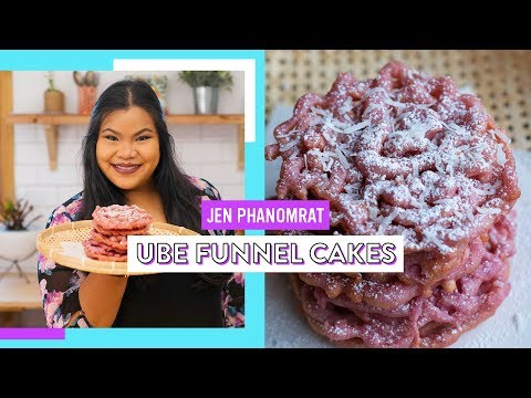Ube Funnel Cake | Good Times with Jen