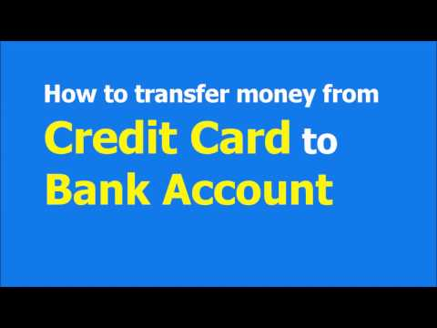 How to transfer money from Credit card to Bank account - 100% FREE