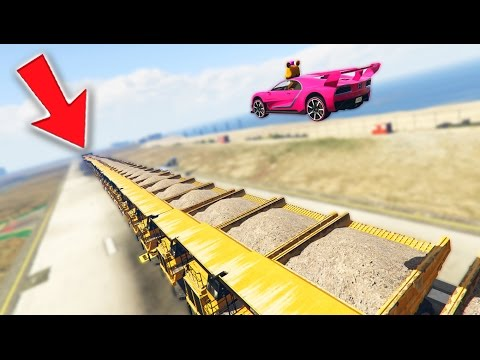 ANIMATRONICS JUMP OVER 100 HUGE DUMP TRUCKS STUNT! (GTA 5 Mods For Kids FNAF Funny Moments)