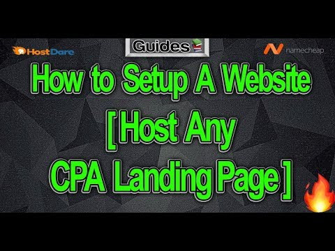 How to Setup A Website [Host Any CPA Landing Page] 💻