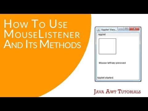 Java AWT Tutorials - How To Use MouseListener Interface And Its Methods (Simple Exercise)