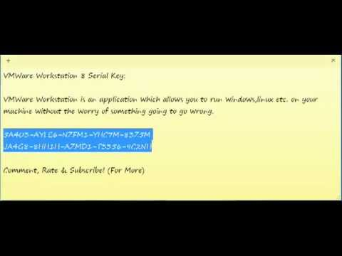VMware Workstaion 8 Serial Key